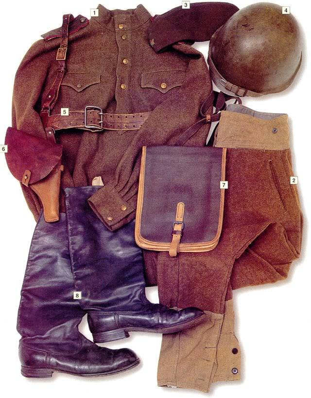 Los uniformes de la Segunda Guerra Mundial Sovietinfantryofficer1943