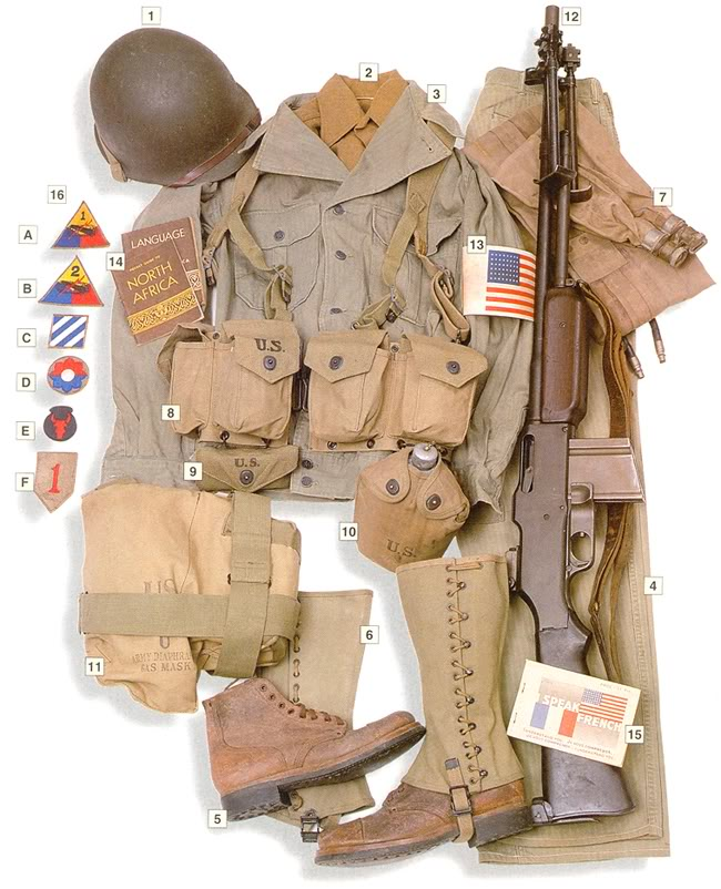 Los uniformes de la Segunda Guerra Mundial USinfantry1942-1945