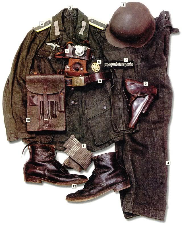 Los uniformes de la Segunda Guerra Mundial UnteroffiziercorporalWehrmachtPropagandakompanie1943