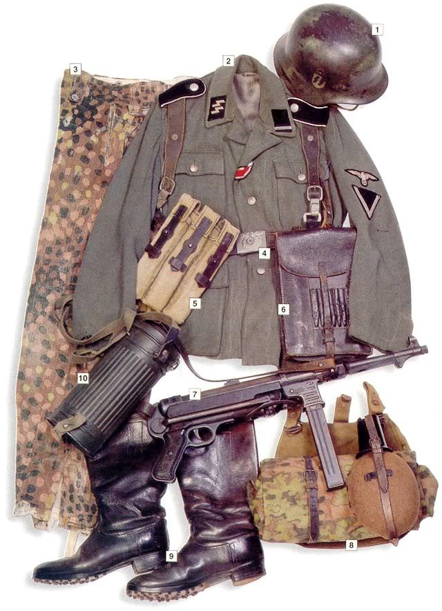 Los uniformes de la Segunda Guerra Mundial WaffenSSSturmmannCorporalNormandy1944