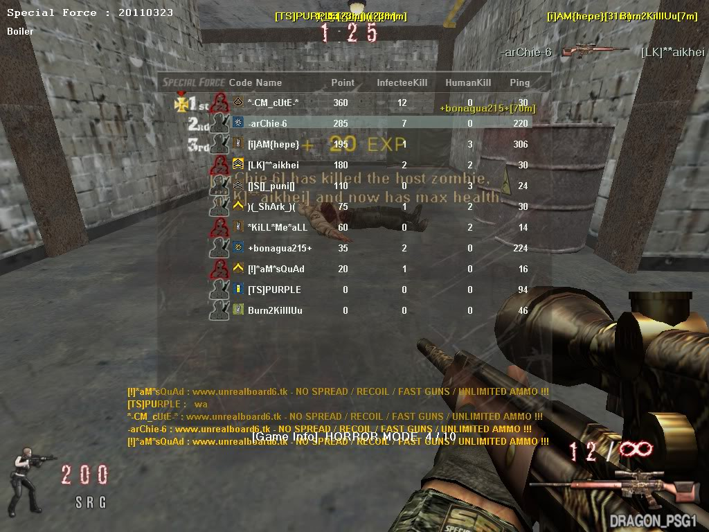 [New]UnrealBoard PSF V.19 100% Working!! UNLI Ammo,Long Jump,No Recoil,Fast Guns 2011March27153904