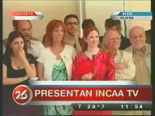 Анди на презентации нового канала INCAA TV Incaa01