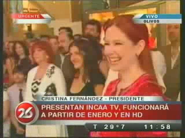 Анди на презентации нового канала INCAA TV Incaa02