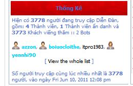 KỶ LỤC về số lượng khách truy cập diễn đàn BaoVyMMO Kylucthang62