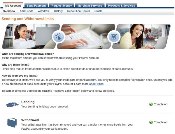 """Biểu tượng """"Hạn Mức Gửi Và Rút"""" trong PayPal có làm bạn lo lắng? Paypal_limits2-600x460"""