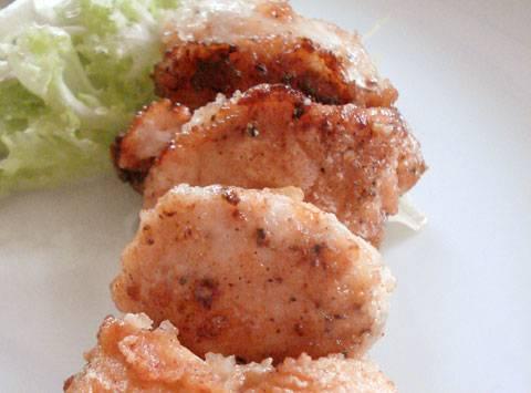 Pan-fried lemon chicken nuggets - Gà rán vàng rộn áp chảo có vị chanh Flemonchicken1