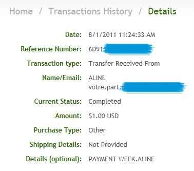 My payment proofs Alineproof001