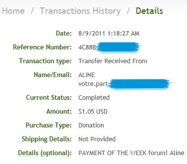 My payment proofs Alineproof002