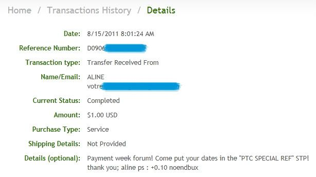 My payment proofs Alineproof003