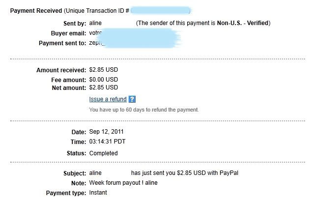 My payment proofs Alineproof007
