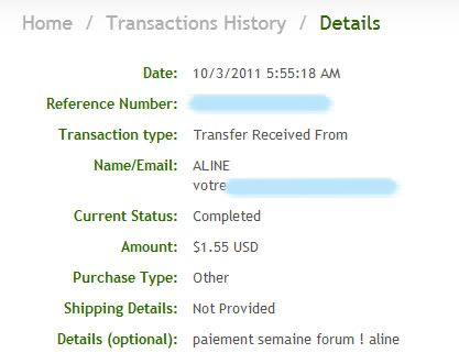 My payment proofs Alineproof010