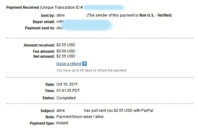 My payment proofs Alineproof011