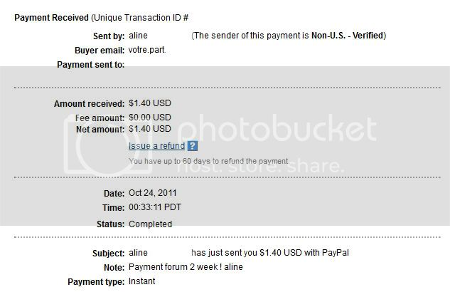 My 12th payment Alineproof012