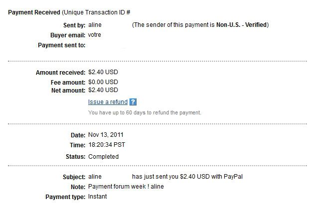 My 15th payment Alineproof015