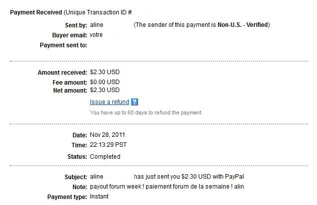 My 17th payment Alineproof017