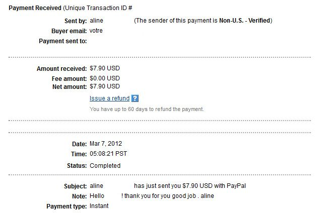 Payment #20 Alineproof020
