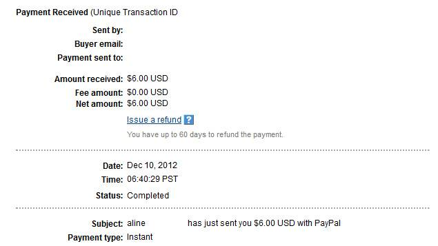 My last payments Alineproof029