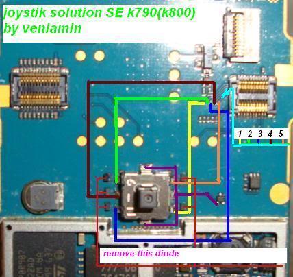 sony k800i joystick  Joystik
