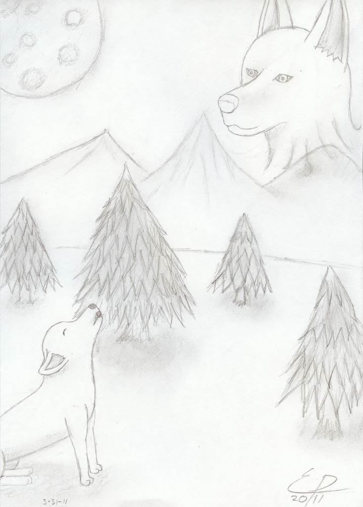 Howl of the (not so) Lone Wolf ~ Traditional HowlofthenotsoLoneWolf