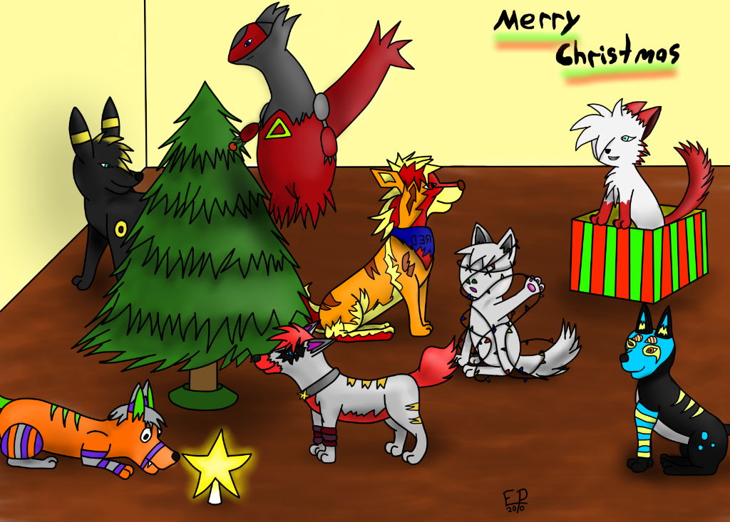 Umbreonfreak24's Commissions  MerryChristmas2010