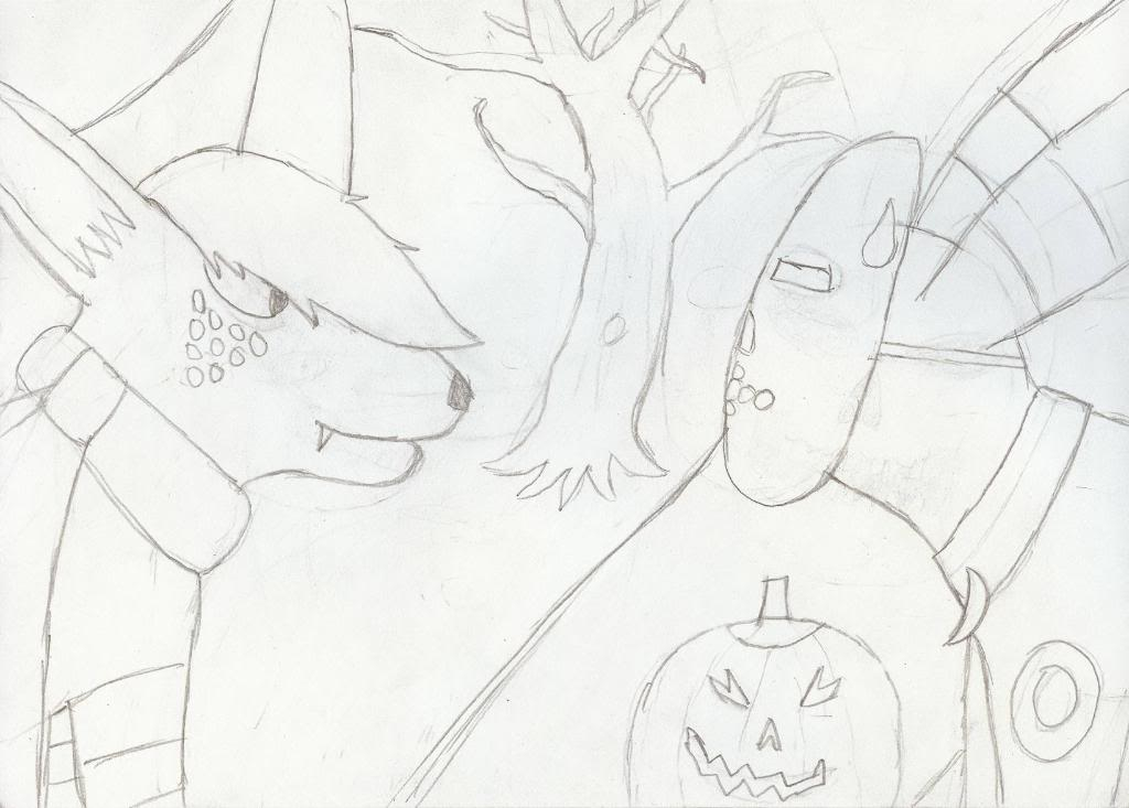Random Pre-digital Artwork ScaryHalloween