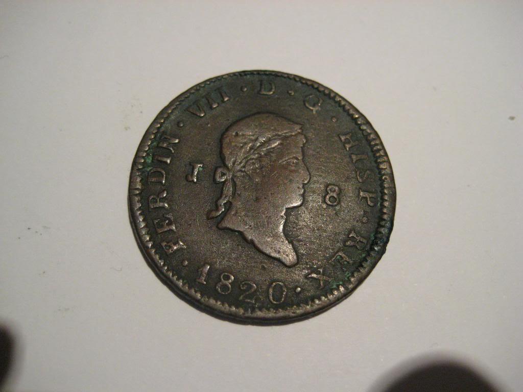 8 Maravedis 1820. Fernando VII. Jubia. FerdinVII-Cara-1820-8maravedies