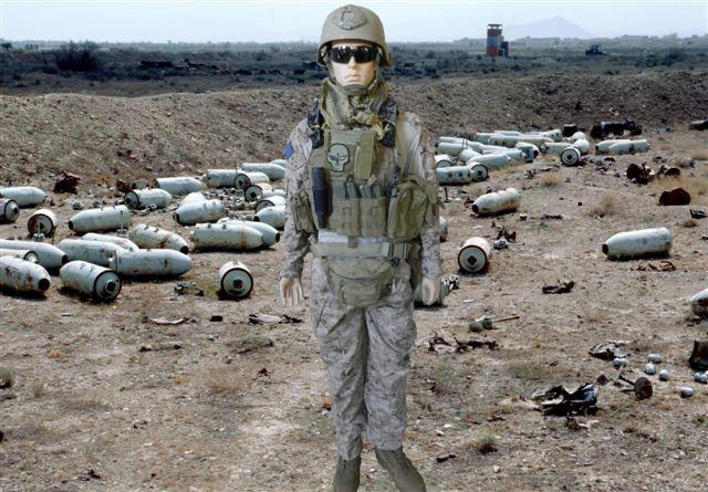 USMC EOD Tech Manniquen Afghanistan Display  Afghan2002Bombdump_zpsb40991da