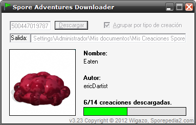 Spore Adventures Downloader v3.23 SS323