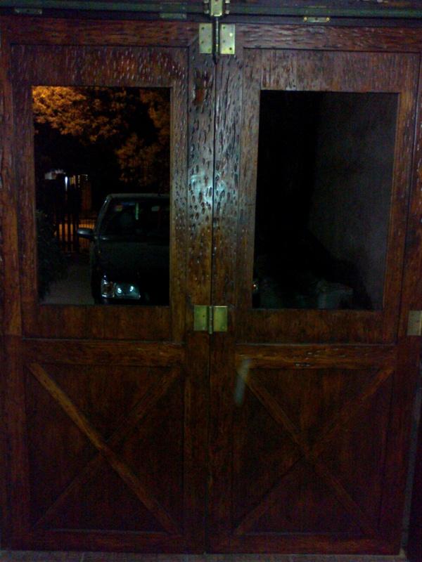 Corredizo - Portón de garaje, en madera, casero, corredizo, curvo.... 150620131059_zpsf7e00e14