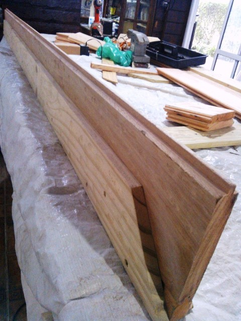 Corredizo - Portón de garaje, en madera, casero, corredizo, curvo.... 95_zps5efa924b
