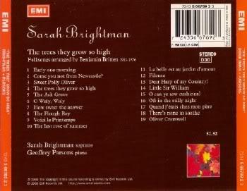 Sarah Brightman - The trees they grow so high (1988) APE 265