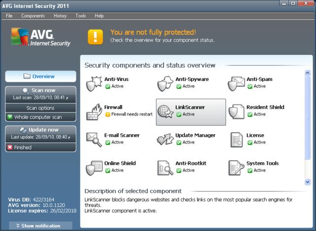 أحدث أصدار من مكافح الفيروسات الشهير AVG AntiVirus & Internet Security 2011 10.0.1391 222222222222222222-1