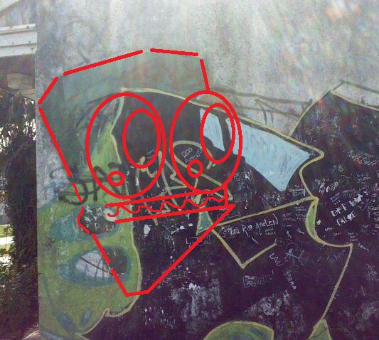 Graffitis de Invazor Zim Zim