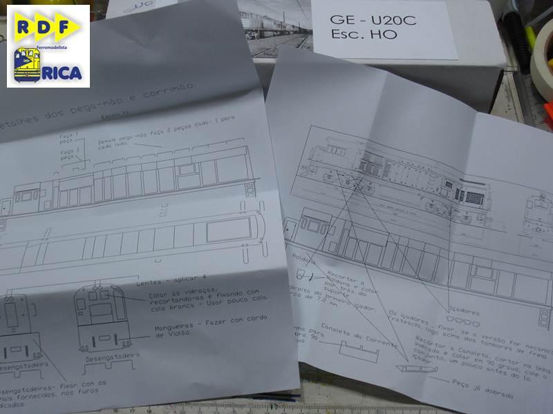 """Locomotiva GE U20c 3162-6 MRS em escala """"ho"""" LocomotivaGEU20c3162-6MRSemescalaho_004-6_zps14fa289a"""