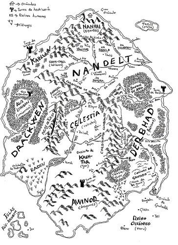 Memorias de Idhún (Trilogía) - Laura Gallego Mapa1