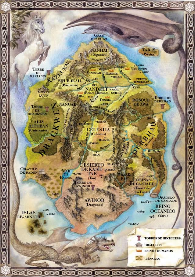 Memorias de Idhún (Trilogía) - Laura Gallego Mapa2