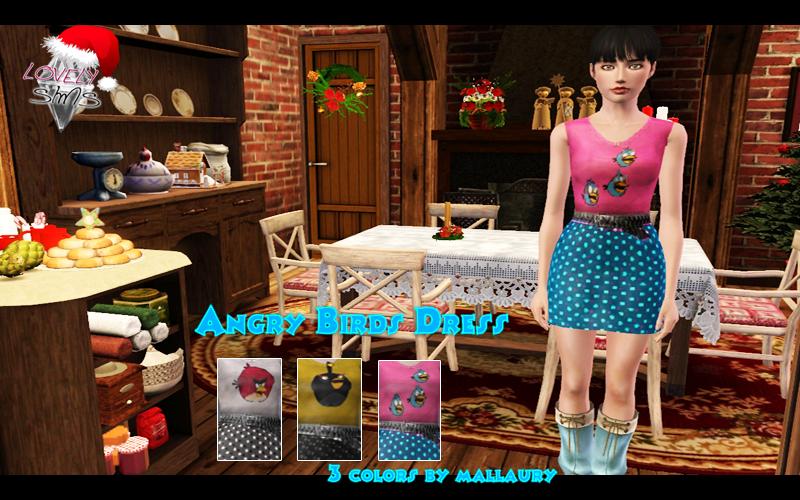 LovelySims - Página 4 Angrybirdsdress