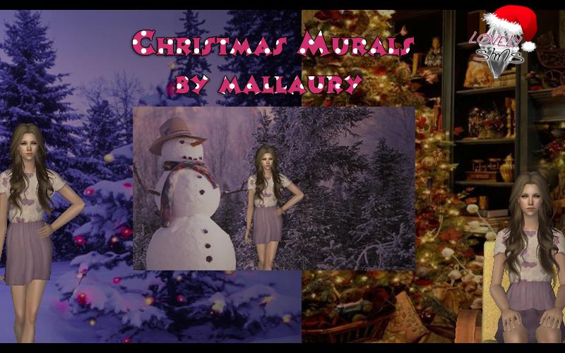LovelySims - Página 4 Christmasmurals