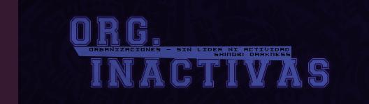Organizaciones Inactivas