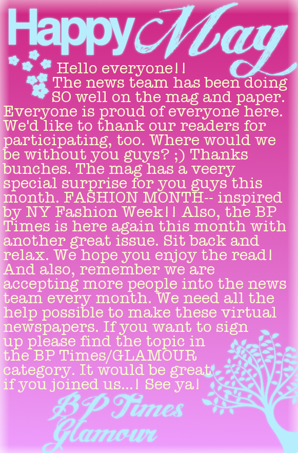 ♥ { GLAMOUR ; Issue 6 } FΔSHIΘN month. Intro-4