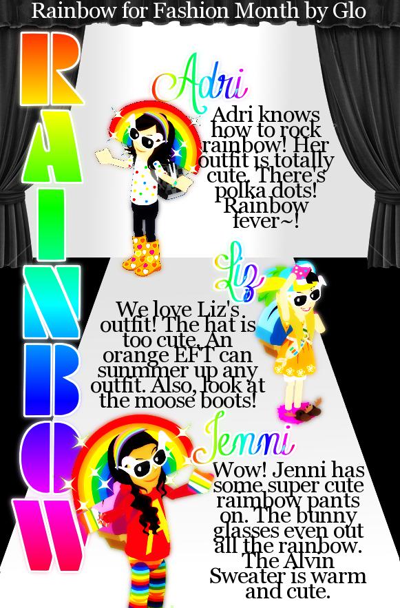 ♥ { GLAMOUR ; Issue 6 } FΔSHIΘN month. Rainbow