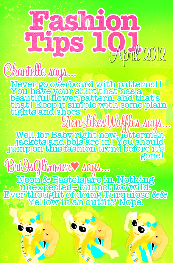 * { GLAMOUR ; Issue 5 } * Tips-1