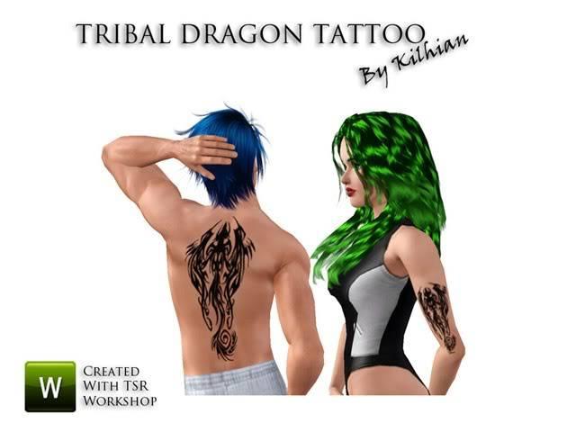 [Blog Sims3] Kilhian's lair TribalDragon01PreviewSimsArtists