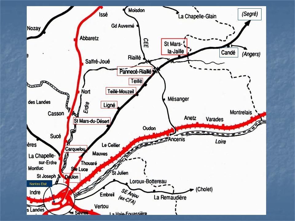 Ligne de Nantes - Segré (1185-1988) Voie Verte de Carquefou à St Mars la Jaille  1-LalignedeNantes-EtatStMarslaJaille