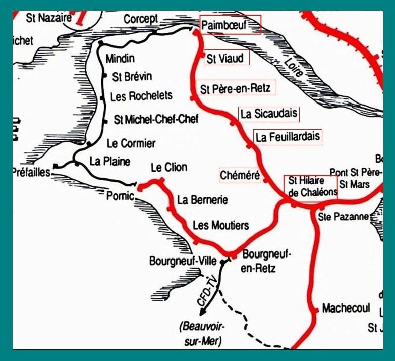 Ligne de St Hilaire de Chaléons à Paimboeuf de 1876 à nos jours 1-LalignedeStHilairePaimboeuf