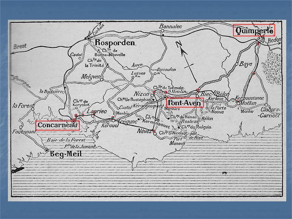 Ligne de Quimperlé-Pont-Aven-Concarneau (1903-1908-1909-1936) 1-Quimperl-Concarneau