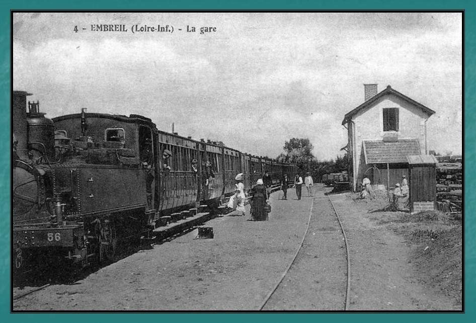 Ligne du Petit Anjou en 44 de Nantes à La Remaudière (1899-1947) 10-Embreil
