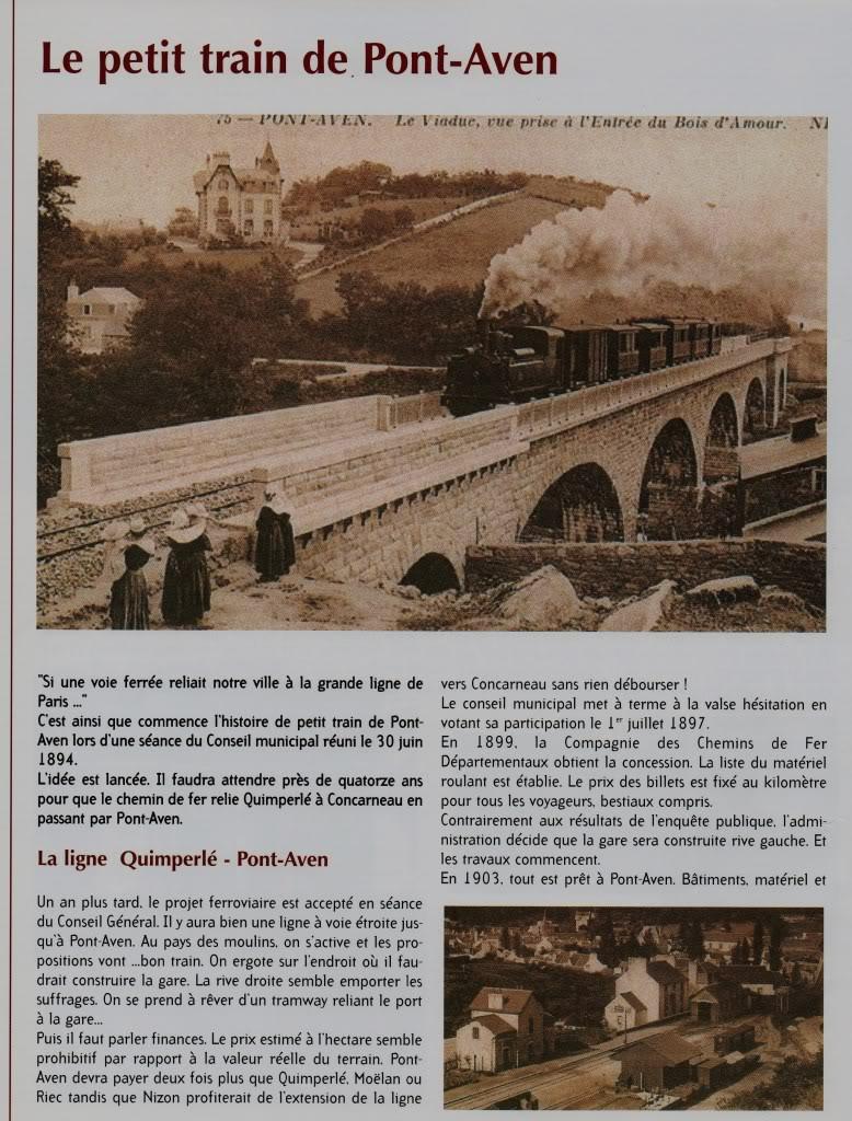 Ligne de Quimperlé-Pont-Aven-Concarneau (1903-1908-1909-1936) 10-PontAvenletrain2