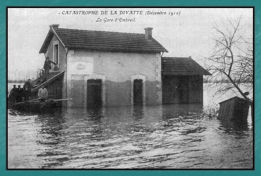 Ligne du Petit Anjou en 44 de Nantes à La Remaudière (1899-1947) 11-Embreilinondationde1910