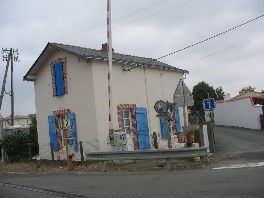 Gare de Machecoul - Ligne de Nantes-St Gilles Croix de Vie  12-lePNBddelaChapelle-ruedePornic